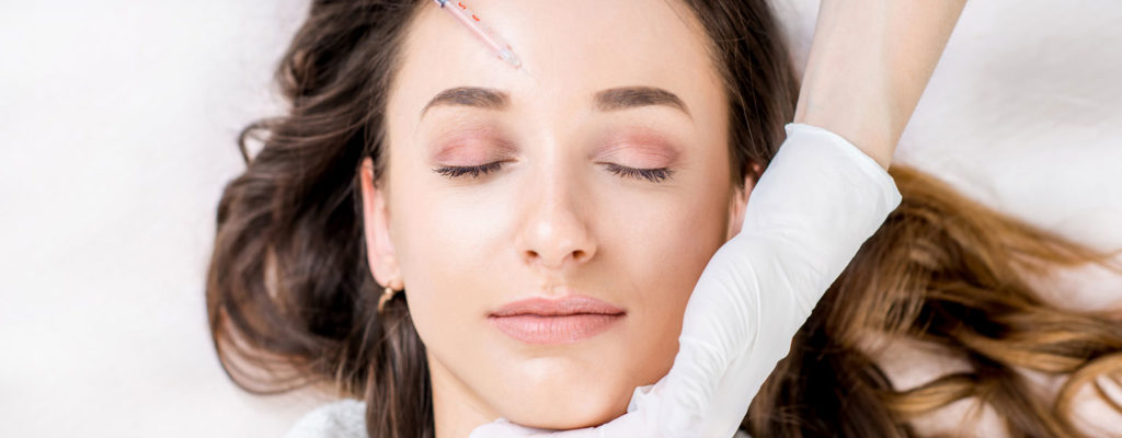 Woman receiving dermal fillers